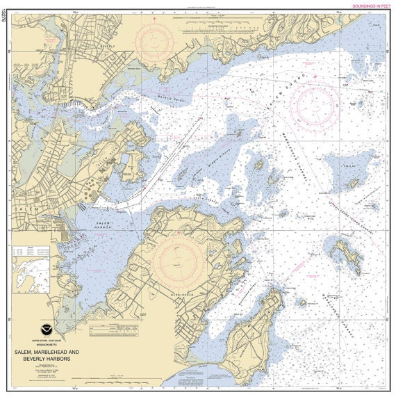 CUSTOM - ANY nautical chart or map any area on Photo Matte or Canvas Boat Sail Ship Fishing Diagram Home Wall Desk Decor
