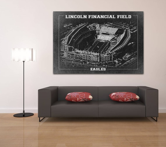 Print of Vintage Lincoln Financial Field Seating Chart Seating Chart on Photo Paper, Matte paper or Canvas