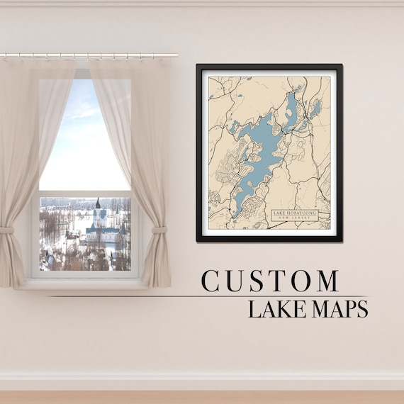 Custom Print of Any Lake on Photo Paper, Matte Paper or Canvas with Option to Frame.