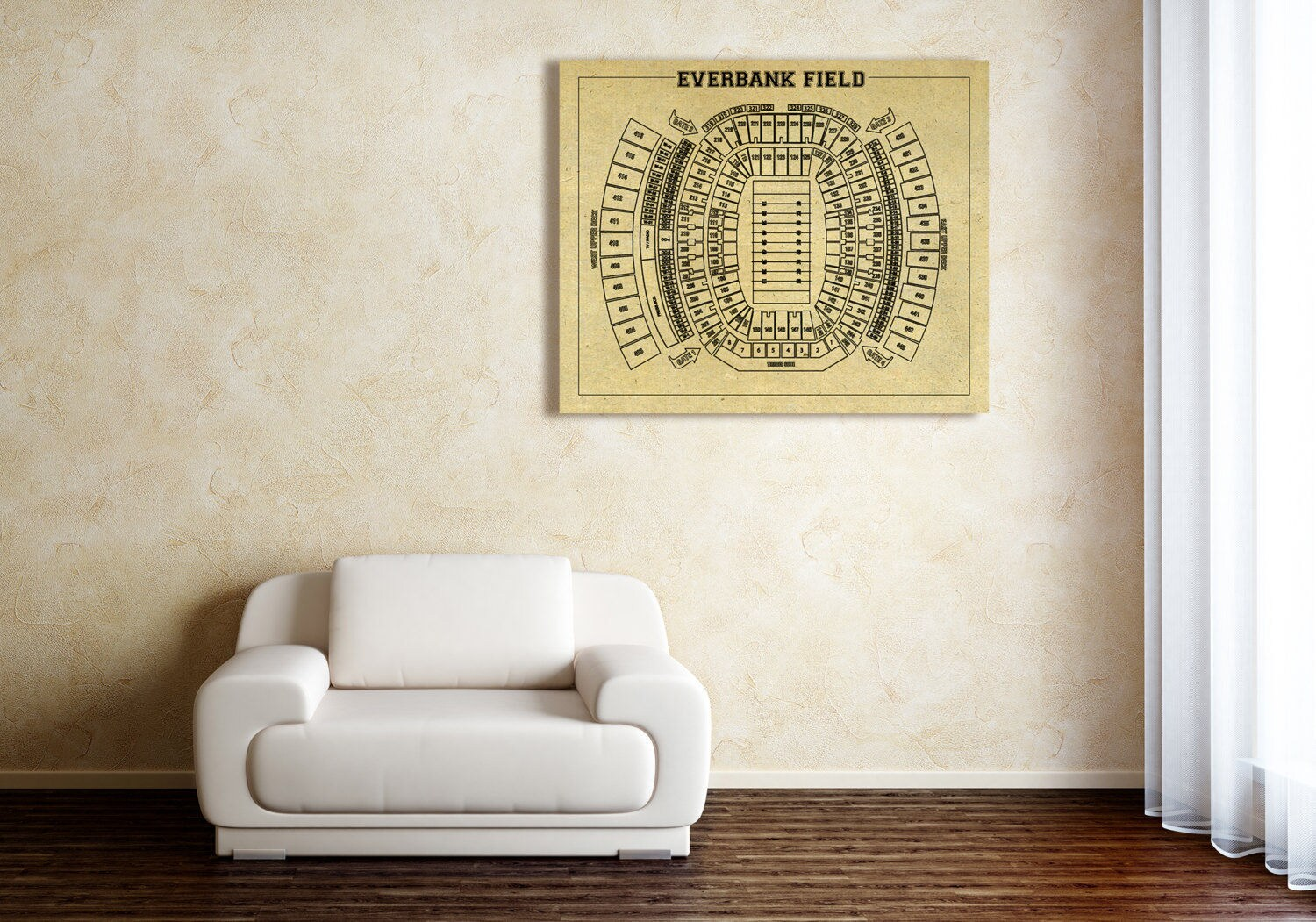 Print Of Vintage Everbank Field Seating Chart Seating Chart