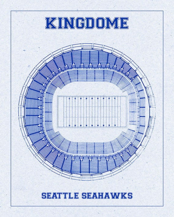 Print of Vintage Kingdome Seating Chart Seating Chart on Photo Paper, Matte paper or Canvas