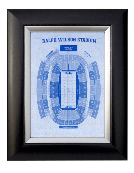 Print of Vintage Ralph Wilson Stadium Seating Chart Seating Chart on Photo Paper, Matte paper or Canvas