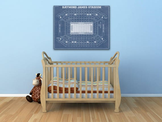 Print of Vintage Raymond James Stadium Seating Chart Seating Chart on Photo Paper, Matte paper or Canvas