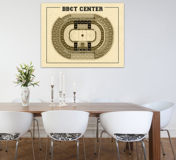 Vintage Florida Panthers BB&T Center Diagram on Photo Paper, Matte or Canvas Sports Stadium Tickets Art Home Decor Line Drawing