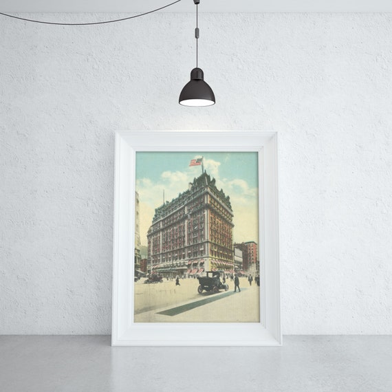 Antique vintage style Print of Knickerbocker Hotel on Photo Paper, Matte Paper or Stretched Canvas