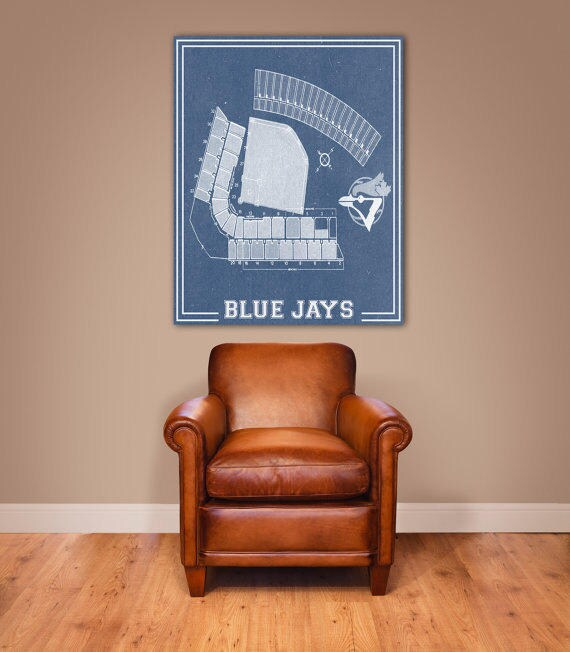 Print of Vintage Exhibition Stadium Seating Chart on Photo Paper, Matte paper or Canvas
