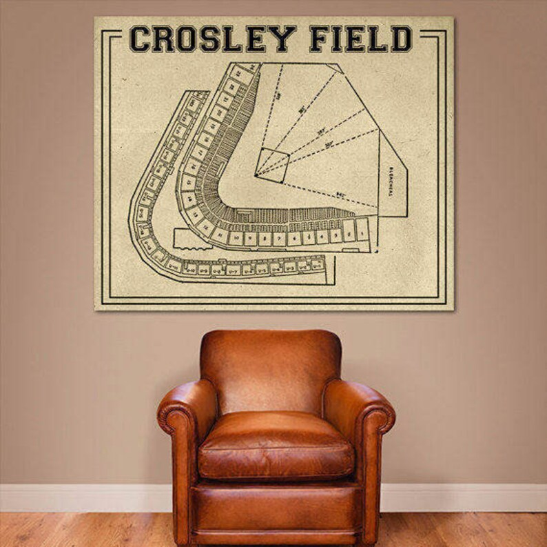 Print Of Vintage Crosley Field Cincinnati Ohio Baseball Etsy