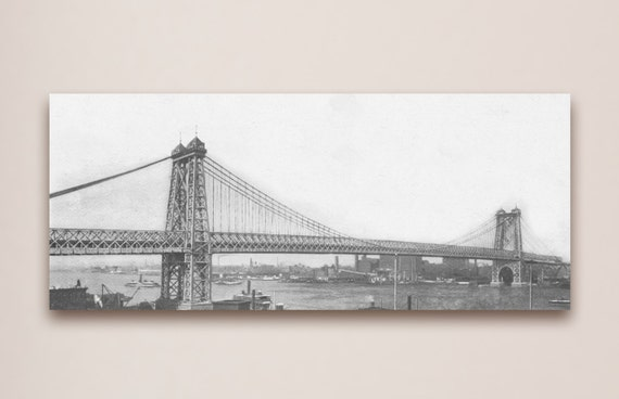 Antique vintage style Photo of East River Photo Paper, Matte or Canvas Wall Art Decor new york city nyc boats river 1900s