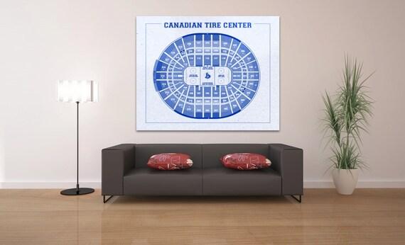 Vintage Canadian Tire Center Ottawa Senators on Photo Paper, Matte paper or Canvas Sports Stadium Tickets Art Home Decor Line Drawing