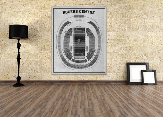 Print of Vintage Rogers Centre Seating Chart on Photo Paper, Matte paper or Canvas