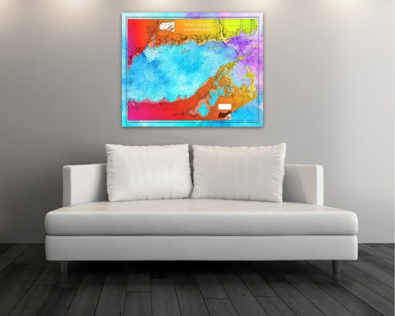 Artistic Print of Long Island Eastern Part Chart on your choice of Photo Paper, Matte Paper or Canvas Giclee