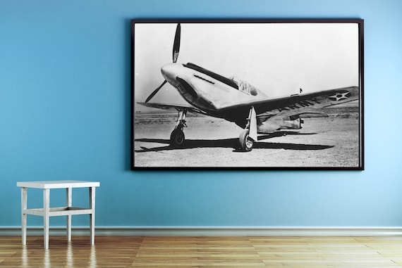 Print of Vintage Style Antique Airplane on Photo Paper, Matte Paper or Stretched Canvas