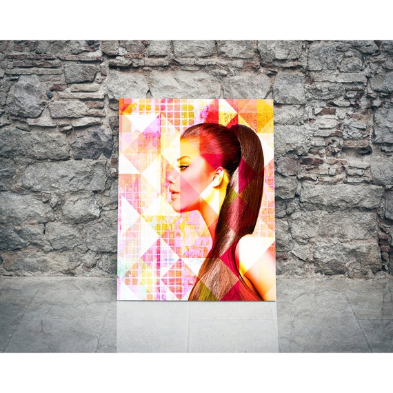 Original Print of Modern Art Collage Featuring Beautiful Female Depiction. Available on Canvas, Photo Paper, or Matte Paper in Many Sizes.