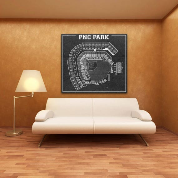 Print of Vintage PNC Park Seating Chart Seating Chart on Photo Paper, Matte paper or Canvas