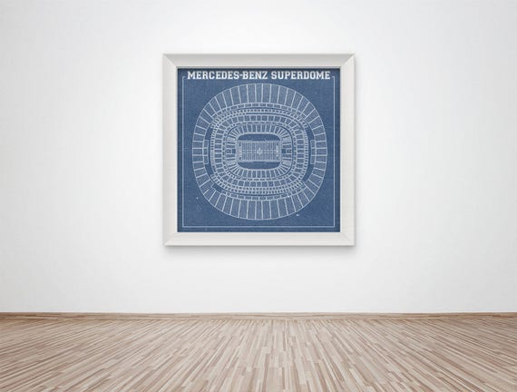 Print of Vintage Mercedes-Benz Superdome Seating Chart Seating Chart on Photo Paper, Matte paper or Canvas
