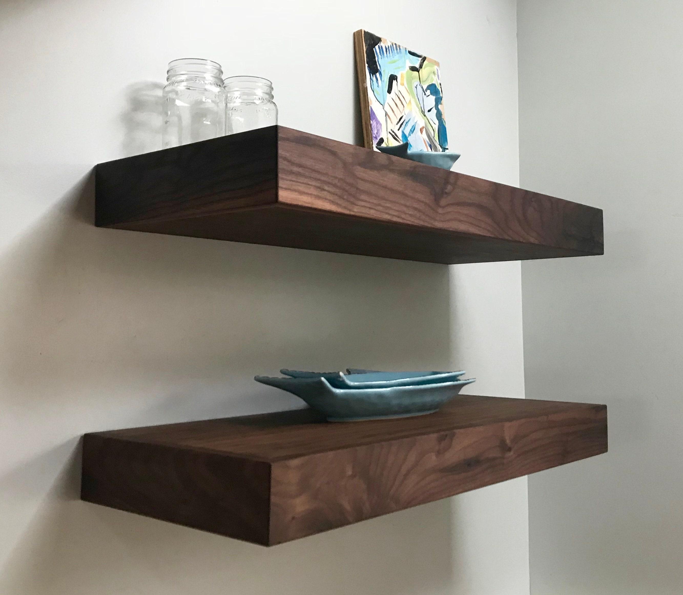 Floating Shelves Walnut Kitchen Shelves Custom For Zuzana Two 3x10x42 And Two 3x11 5x23 25
