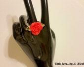 Thorny Rose Adjustable Ring
