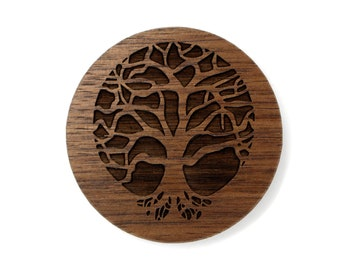 Tree of Life Sustainable Wooden Magnet - Walnut Refrigerator Magnet - Fridge Magnet