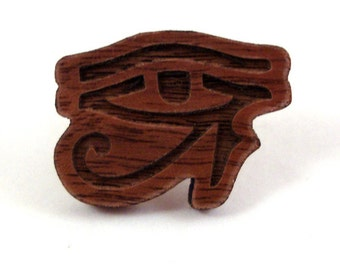 SALE Eye of Horus Pin - Sustainably Harvested Walnut