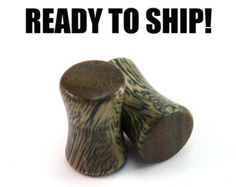 READY TO SHIP 2g (6.5mm) Lignum Vitae Blank Wood Plugs - Pair - Premade Gauges Ship Within 1 Business Day!