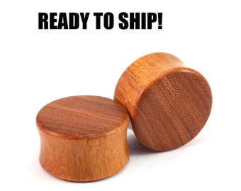 "READY TO SHIP - 7/8"" (22mm) Osage Orange Blank Wooden Plugs - Pair - Premade Gauges Ship Within 1 Business Day!"