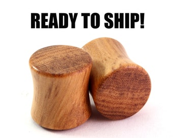 "READY TO SHIP - 7/16"" (11mm) Olivewood Blank Wooden Plugs - Premade Gauges Ship Within 1 Business Day!"