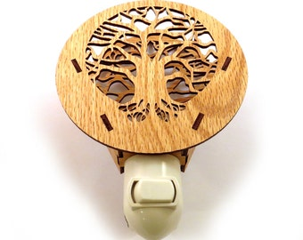 Tree of Life Wooden Night Light - Sustainably Harvested Oak Nightlight