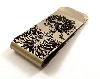 Grateful Dead inspired Bertha Money Clip / Hat Clip - Stainless Steel