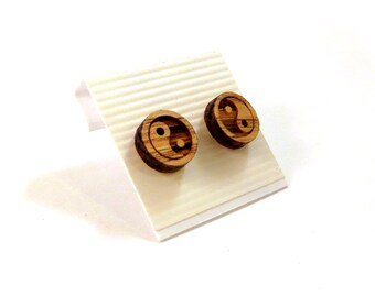 Wooden Post Earrings