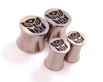 "Slaggin' Sweet Surgical Steel Plugs - Double Flared - 2g 0g 00g 7/16"" (11 mm) 1/2"" (13mm) 9/16"" (14mm) 5/8"" (16mm) Metal Gauges"