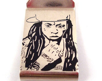 Lil Wayne Stainless Steel Money Clip / Hat Clip