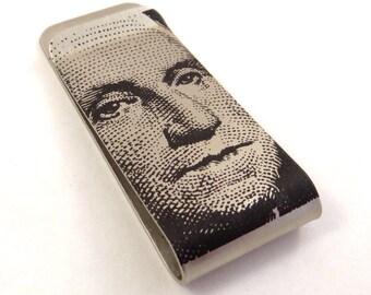 Dollar Bill design Money Clip / Hat Clip - Gift for Him