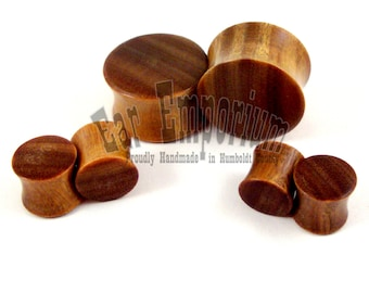 "Lignum Vitae Wooden Plugs 2g (6.5mm) 0g (8mm) 00g (9mm) (10 mm) 7/16"" (11mm) 1/2"" (13mm) 9/16"" (14mm) 5/8"" 11/16"" 3/4"" 7/8"" Wood Ear Gauges"