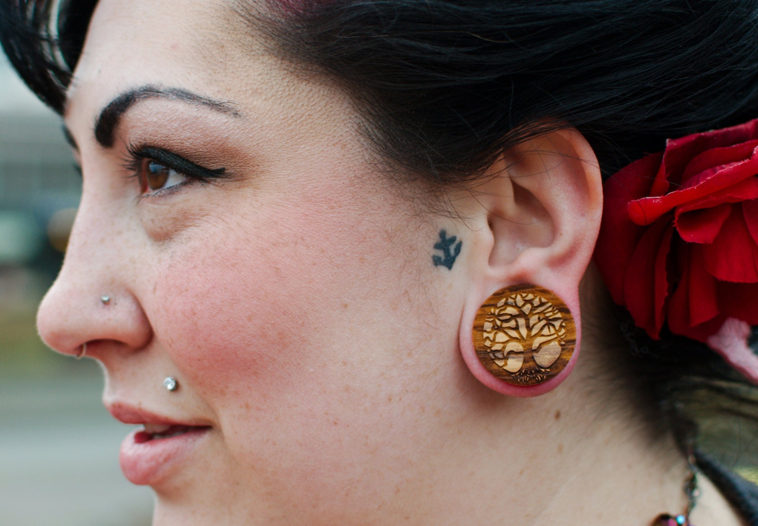 3 4 Plugs >> Tree Of Life Olivewood Wooden Plugs Pair 0g 00g 000g 7 16 11mm