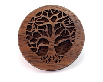 "Tree of Life Pin - Sustainably Harvested Walnut Hat Pin - 1.25"""