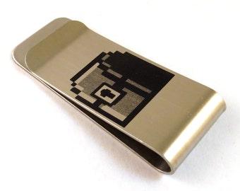 8-Bit Gamer Treasure Chest Stainless Steel Money Clip 8 Bit Old School Video Game Money Box Billfold - Gift for Him - Gamer Gift