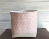 Pink Geometric Storage Basket