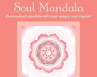 Personalized Soul Mandala | Custom Mandala with your unique soul imprint | [Digital Download]