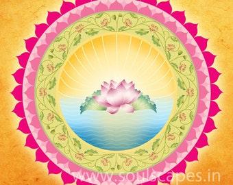 Bliss Mandala Giclee Art Canvas Print