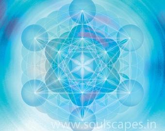 Metatron Mandala Giclee Art Canvas Print