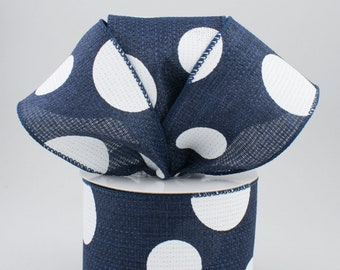 Navy & White Bow - Custom Made with this Ribbon