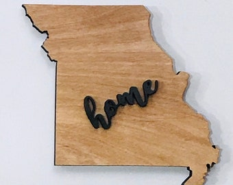 "Missouri Wood Sign - Engraving Option - 17"" x 15"""