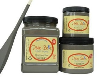 Dixie Belle Gravel  Road Gray Mineral Chalk Paint DIY for Furniture, Cabinets - Many Colors, Stains, Waxes, Stencils Available