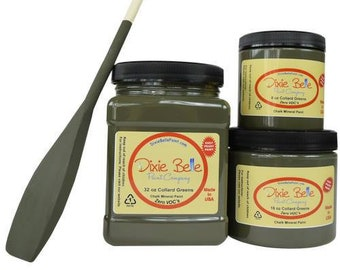 Dixie Belle Collard Greens Mineral Chalk Paint DIY for Furniture, Cabinets - Many Colors, Stains, Waxes, Stencils Available