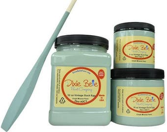 Dixie Belle Vintage Duck Egg Chalk Mineral Paint DIY Paint, Furniture Paint, Cabinet Paint, Craft Paint, Paint Parties, Stencil Paint