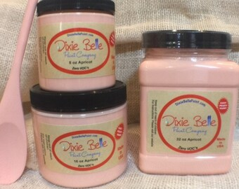 Dixie Belle Apricot Chalk Mineral Peach Paint, Furniture Paint, Cabinet Paint, Craft Paint, Paint Parties, Stencil Paint
