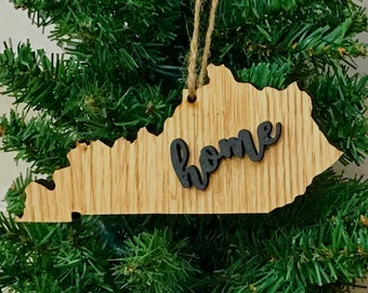 Kentucky Ornament Keepsake Decoration Holiday Handmade Gift Home Ornie Party Favor