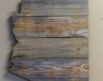 "Arizona Wood Sign 17 1/2"" x 15"" - Options to  Personalize"