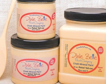 Dixie Belle Rebel Yellow Chalk Mineral Paint, Furniture Paint, Cabinet Paint, Craft Paint, Paint Parties, Stencil Paint