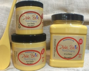 Dixie Belle Daisy Yellow Chalk Mineral Paint, Furniture Paint, Cabinet Paint, Craft Paint, Paint Parties, Stencil Paint